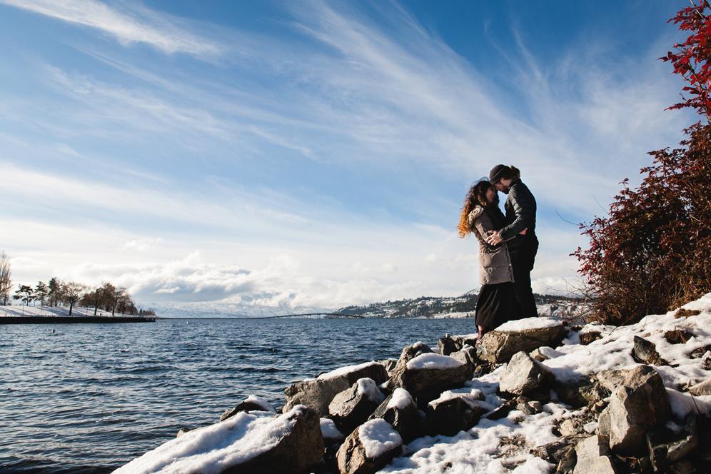 Winter Couple Photos Okanagan Lake Engagement Photography.jpg