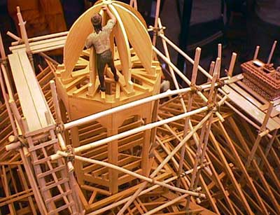 Model of the construction of the Hall