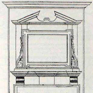 """Wealthy Philadelphians added elegance to utilitarian fireplaces with this Georgian-style chimneypiece. On the first floor of Carpenters' Hall are two examples based on Nevell's drawing in the """"1786 Rule Book."""""""