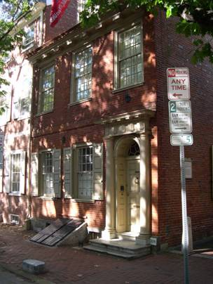 America's first — and probably most short-lived — architectural school was held in Nevell's home on south 4th St. An ardent supporter of the Revolution, he lived here only six years, selling the house the same year the British captured the city.