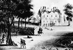 Cliveden, a mansion with sturdy stone walls, became a stronghold for British troops who repelled Washington's forces at the battle of Germantown. Williams was captured but soon escaped to re-join the Americans wintering at Valley Forge.
