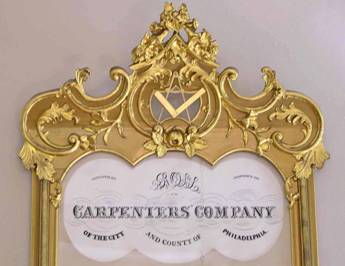 The complete ten-word name of the Company – probably a record-breaker – fills two lines within the gilded frame which encloses the membership list.