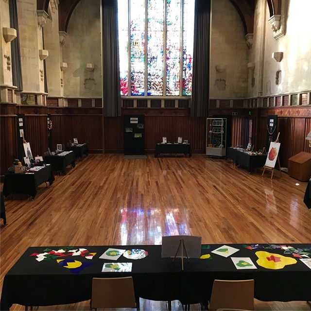 We're all ready to go tomorrow for the Christchurch Maths Craft Day in the Great Hall at the Arts Centre, 10am to 5pm. See you there!