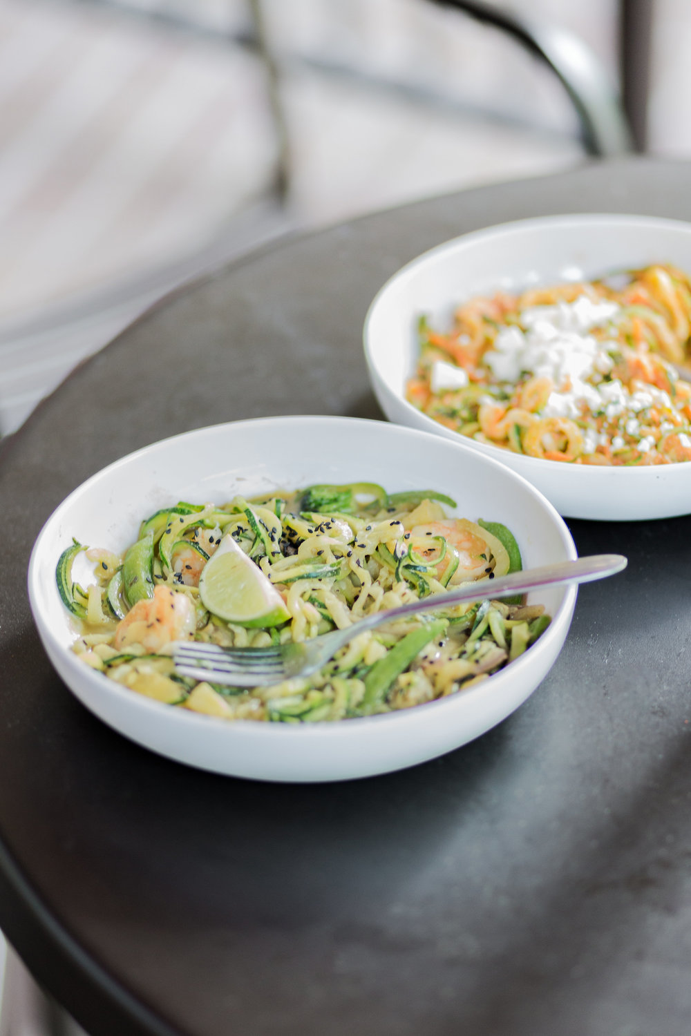 Zucchini Thai Green Curry with Shrimp