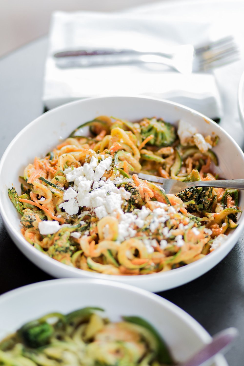 zoodles at noodles & company — anchored in health