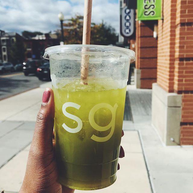 On sick days, we get kale gingerade 💚 @sweetgreen #wholefoods