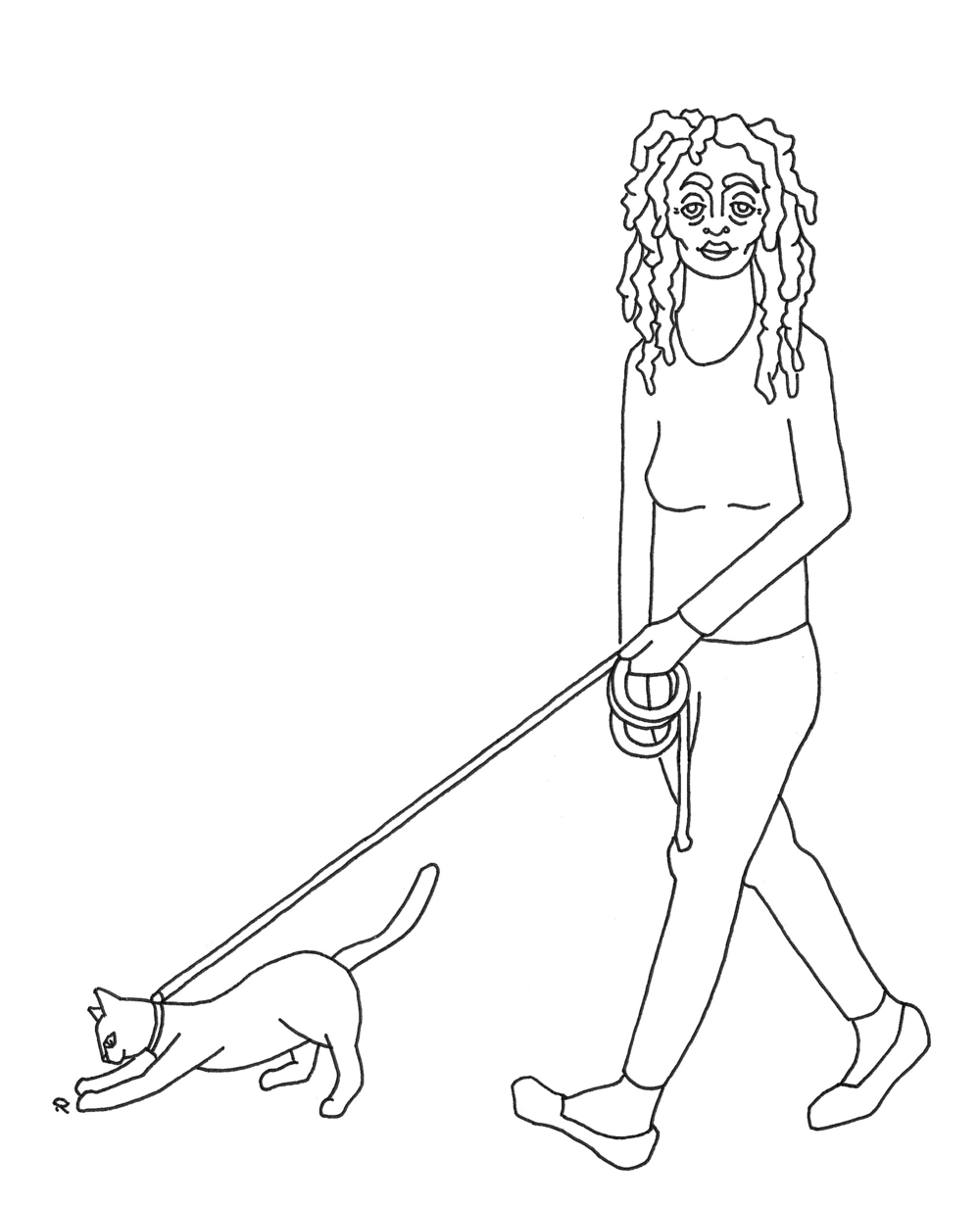 Walking Cats  Pen on Paper Spring 2017