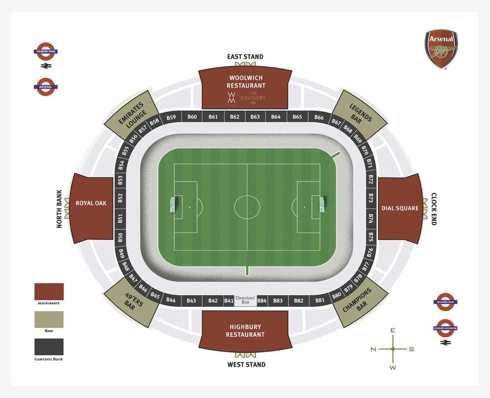 Map of Emirates Stadium