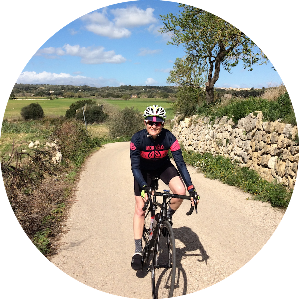 woman cycling on tri camp in mallorca