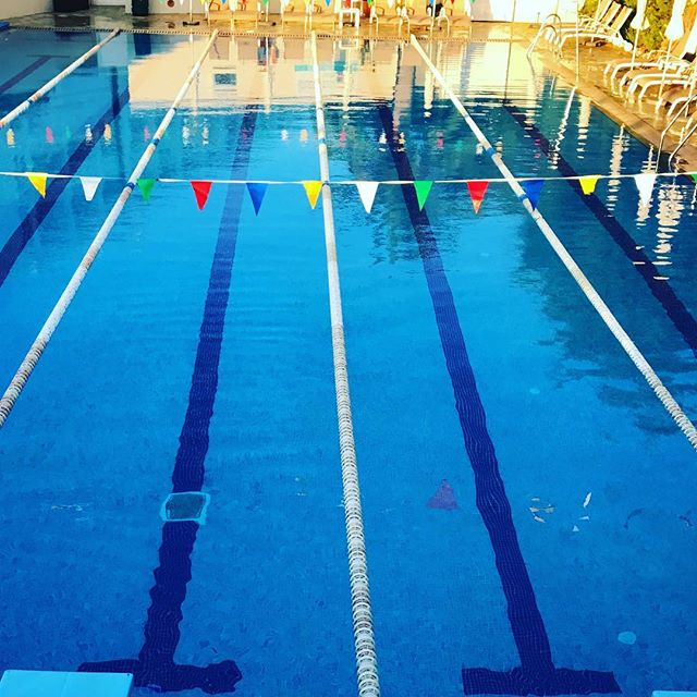 You can't beat a pool to yourself. Don't ya just want to dive in? 🏊‍♂️ • • • #tricamp #earlybird #swim #swimbikerun #swimming #swimmingpool #paradise #openair #gottotri #triathlon #trilife #hitthepool #swimsmooth