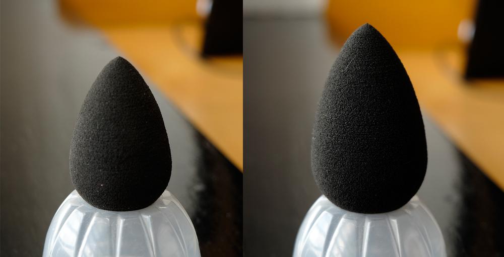 Beauty Blender dry vs wet