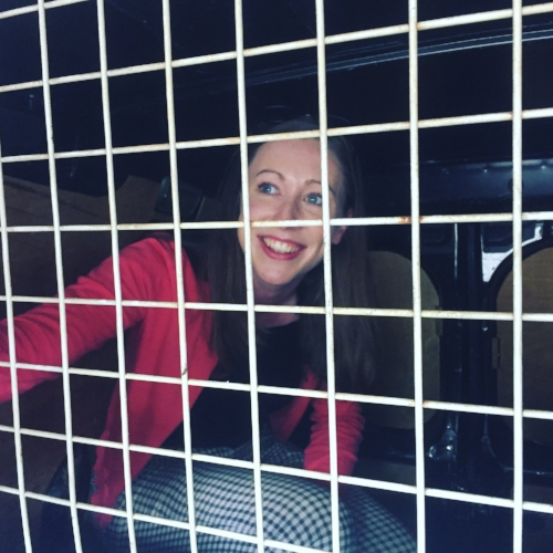 Jess was delighted that I was finally behind bars
