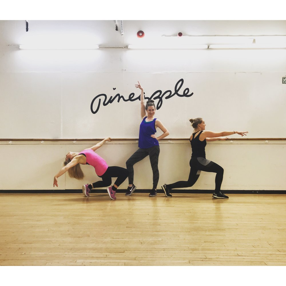 Nat joining Cam and Mags for a workout at Pineapple Studios... She now reckons she's gonna be a big deal in the dance world.