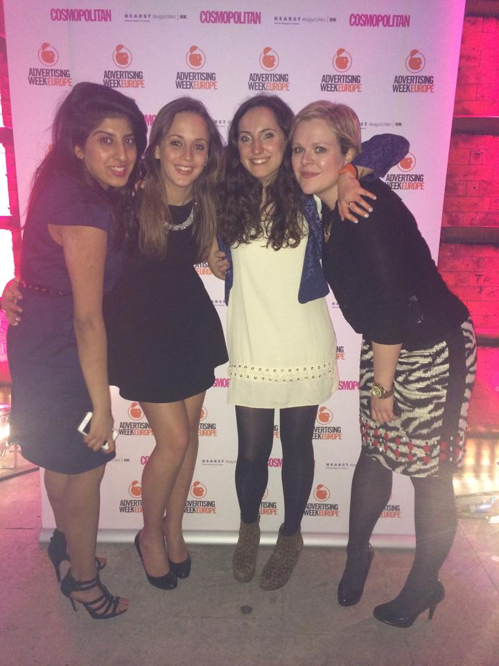 One of Clo and her then team leading the charge for women in advertising at the Advertising Week Europe and Cosmopolitan event.