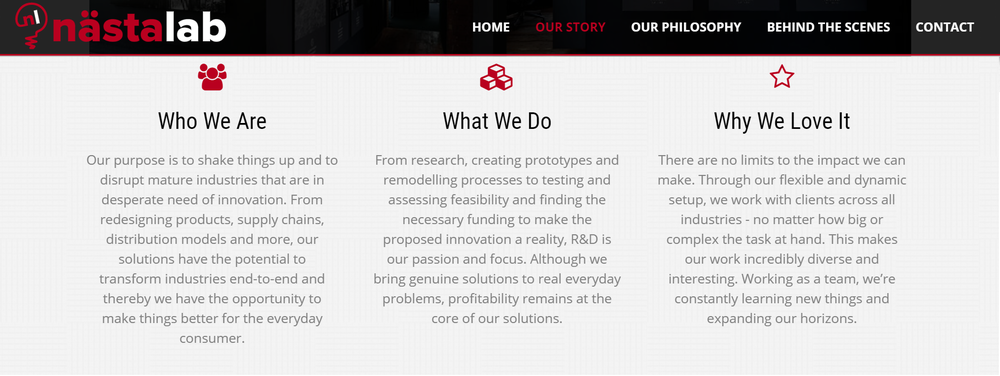 Nastalab Brand Voice and Web Copy by The EMMS