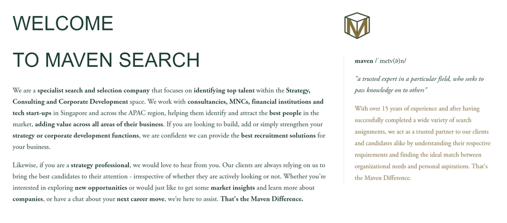 Maven Search Website by The EMMS
