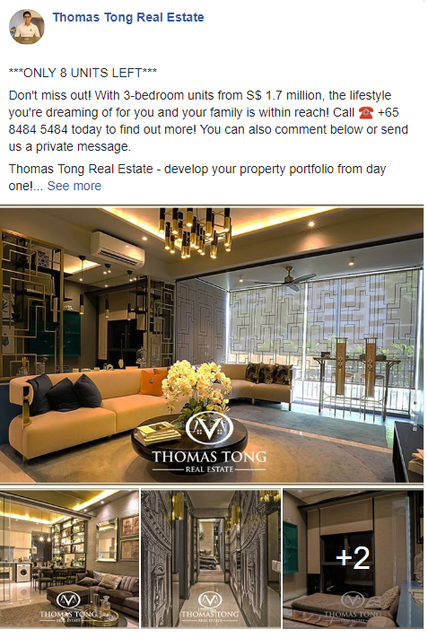 Thomas Tong Real Estate Facebook Post Example by The EMMS