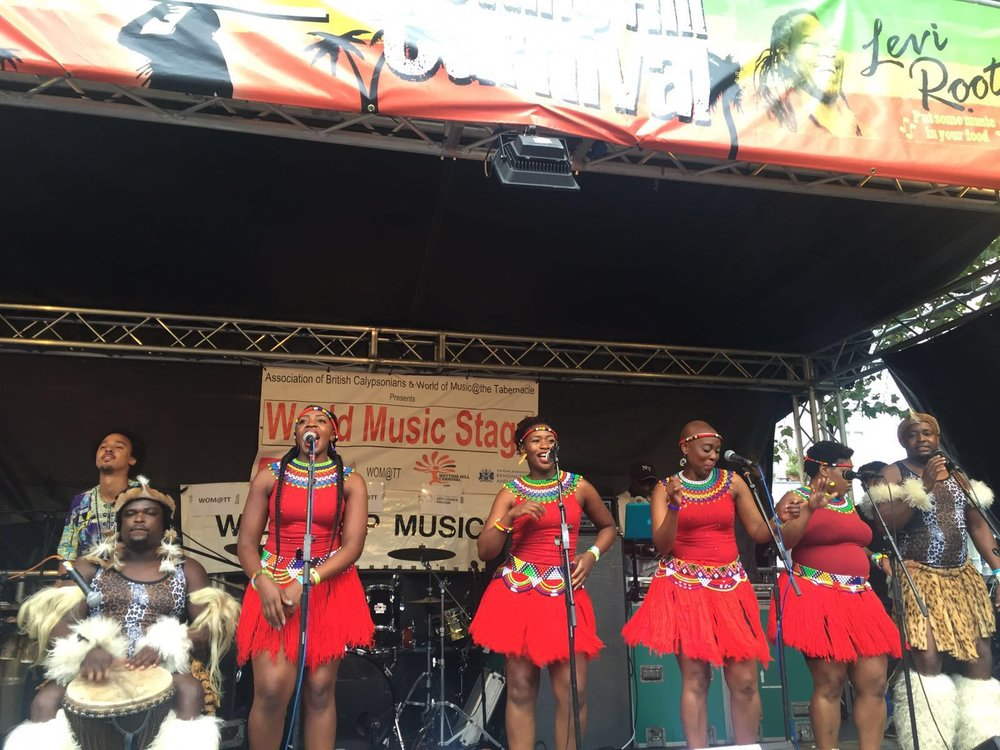 Flame Lily Arts in full swing, performing popular Zimbabwean song Ndiani Waronga
