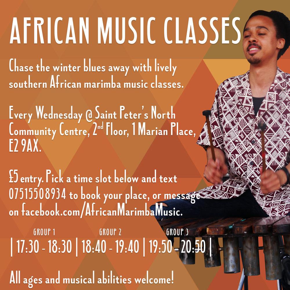 Otto Gumaelius African Marimba Music Classes London