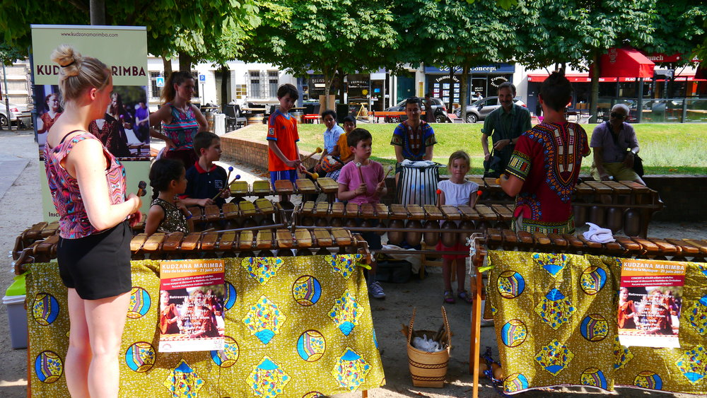 Marimba workshops with the young children of Clichy