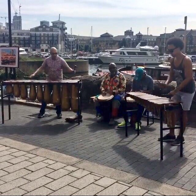 Performing on Saturday morning at Limehouse Basin Social Market