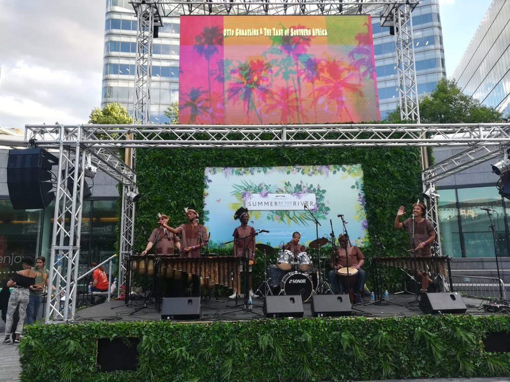 Make Music Day UK - Otto Gumaelius & The Taste of Southern Africa Marimba Band - Scoop London 2.JPG
