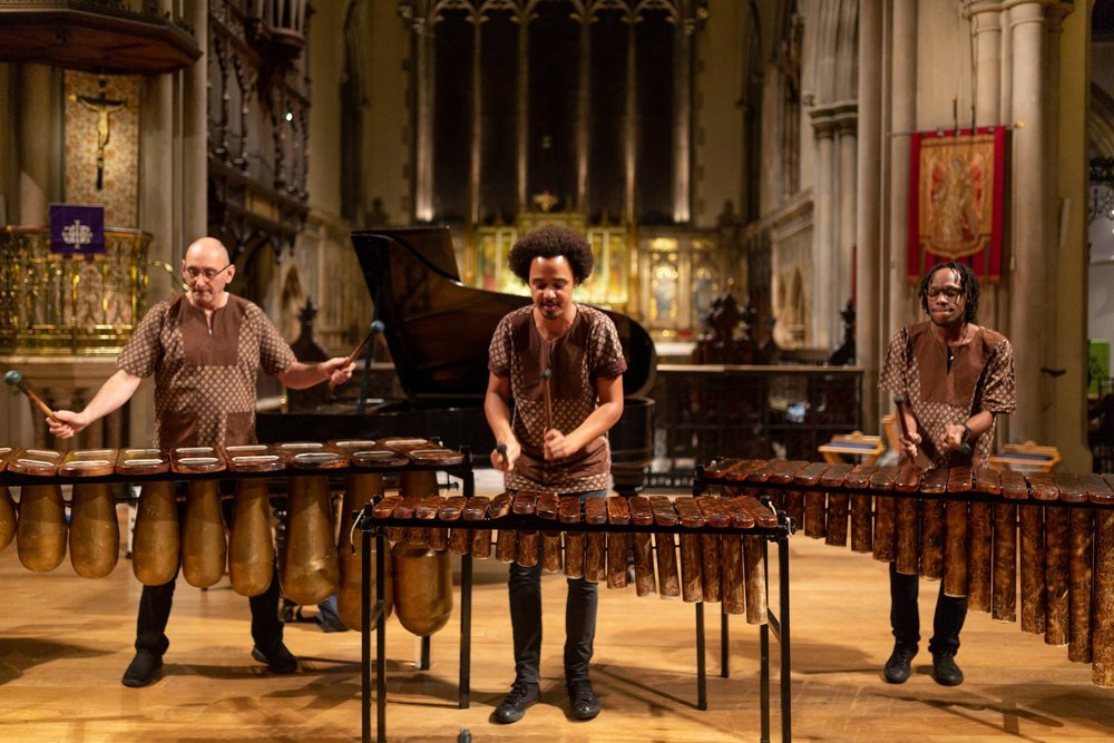 Otto And The Mutapa Calling African Marimba Band - Music For Liberia Charity Concert - St Gabriels Church Pimlico London