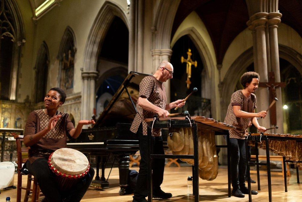 Otto And The Mutapa Calling - African Marimba Band - Music For Liberia, St Gabriel's Church, London, United Kingdom