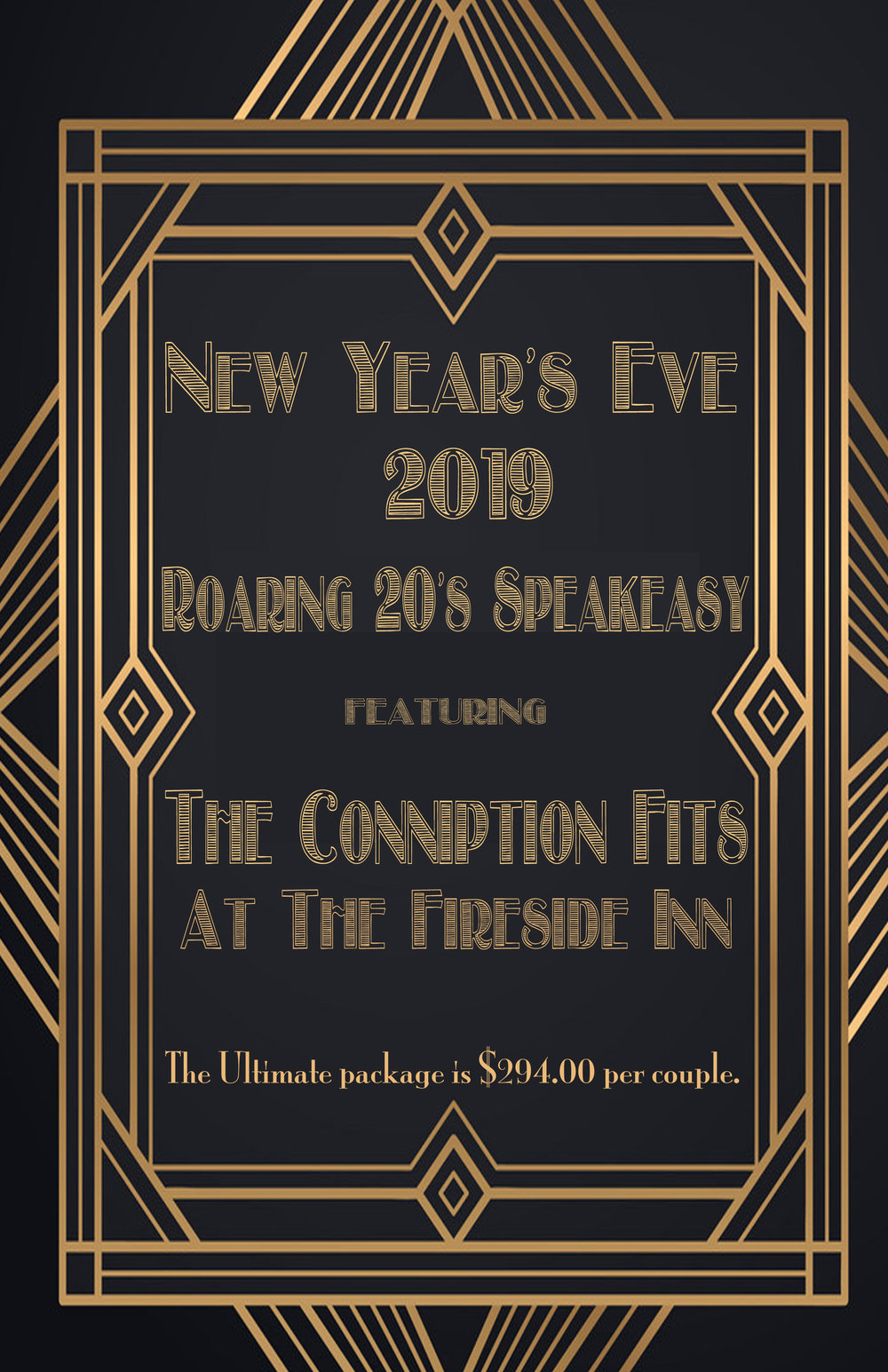 Ring in 2019 with us! - We are doing a 1920's 'speakeasy' theme!Think mob bosses and flapper girls!