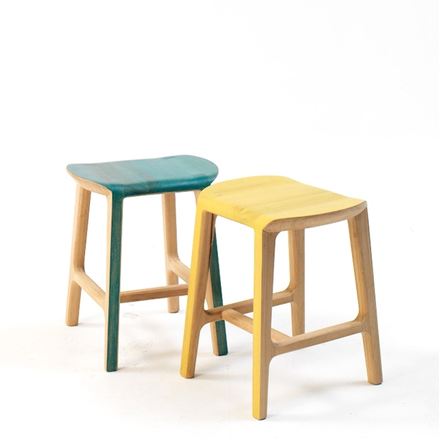 Poncho stool in blue and yellow wash.jpg