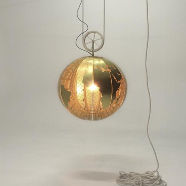 globe orb brass