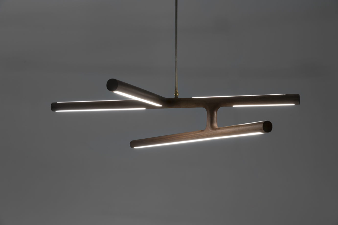 Antler led pendant light linear timber luminaire alex earl lightingantler pendant dark custom lighting web aloadofball