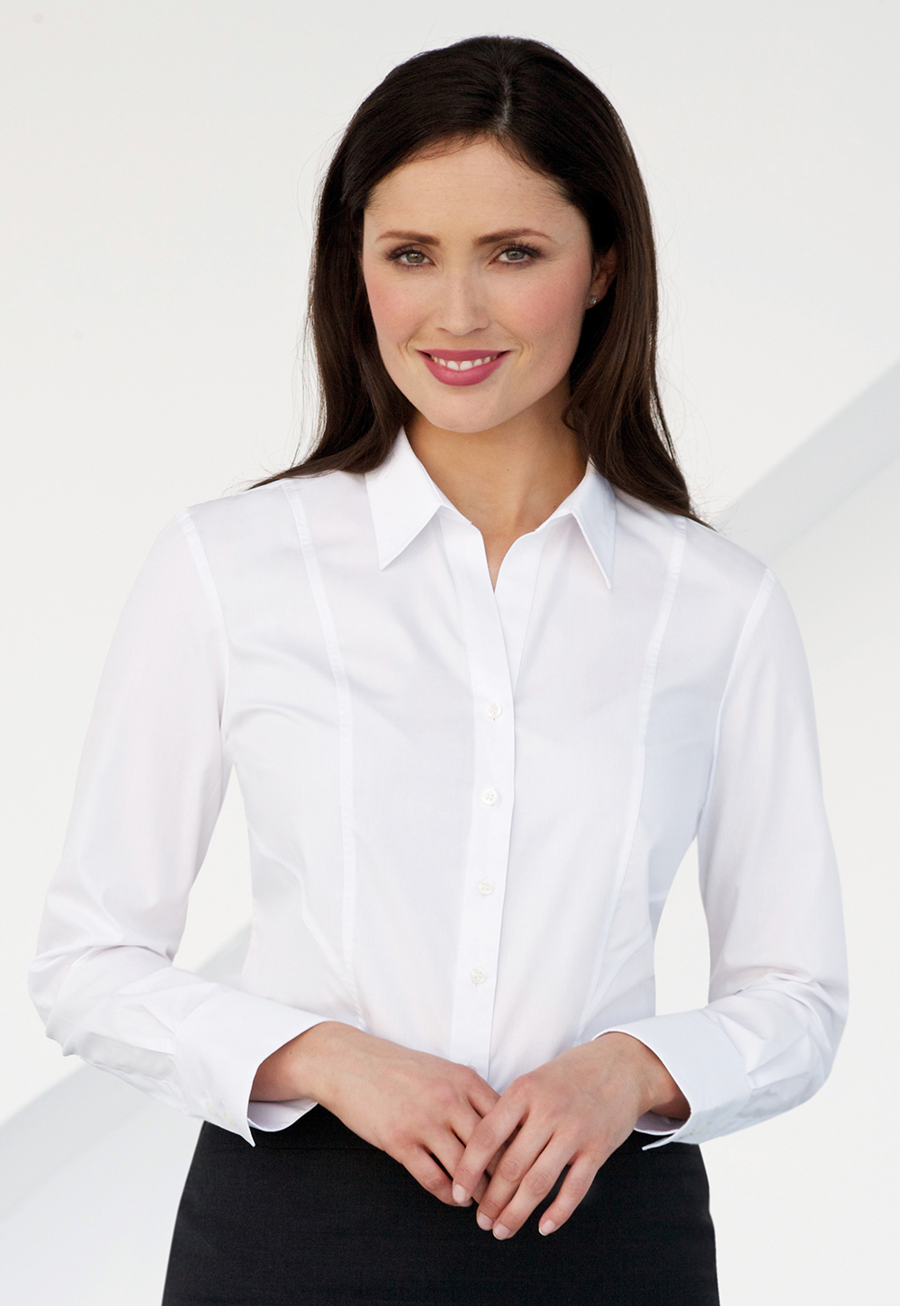 Ladies Shirts In White Hotel Clothing Company