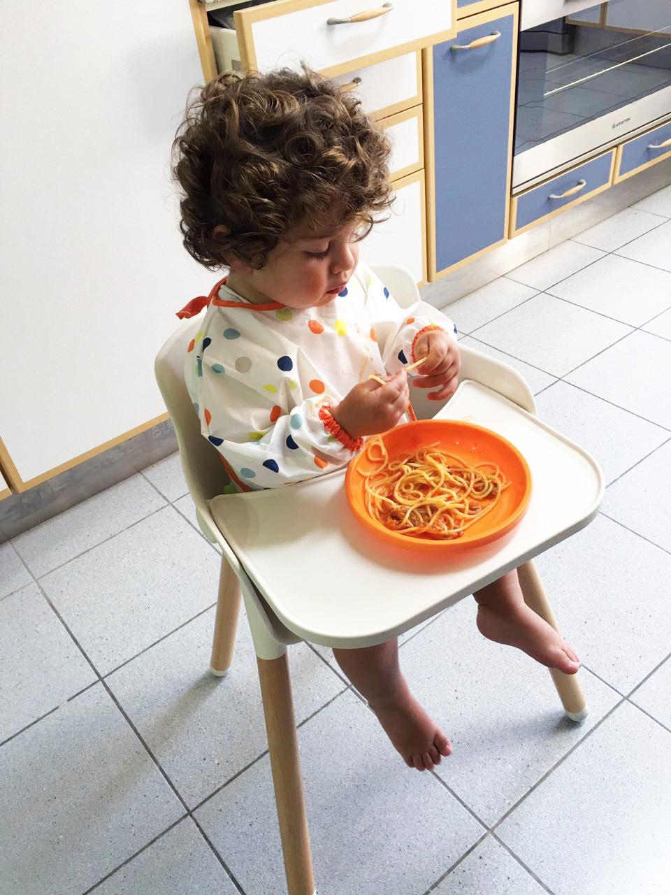 Spaghetti is his favorite!!