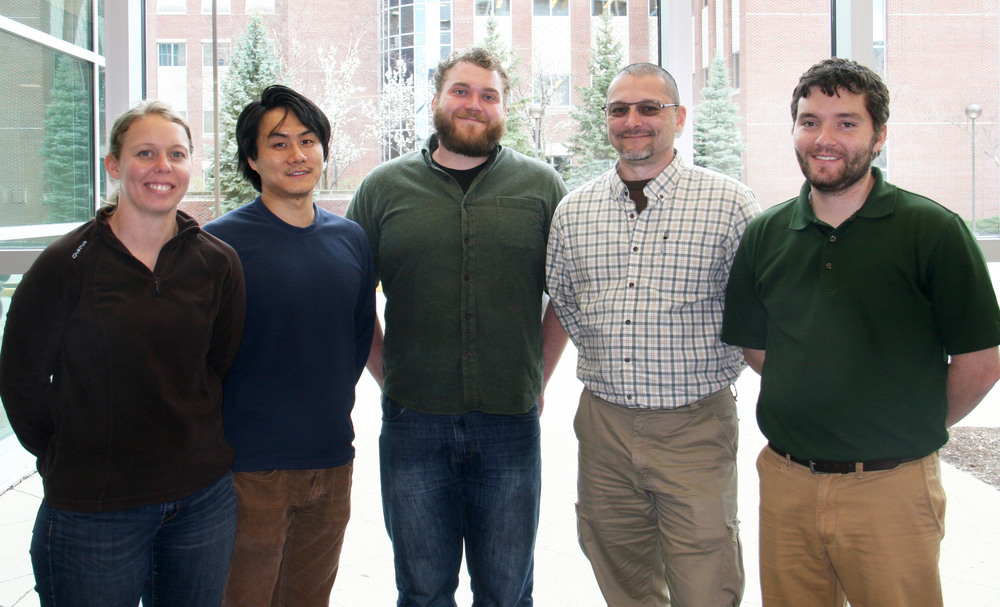 Left to right: Kali Frost, Yi Wang, Jeremy Prather, Jeffrey Ashby, Jeremy Chesher