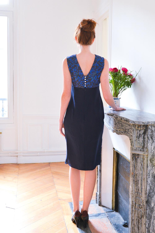 huguette silk dress Petitjean Paris print