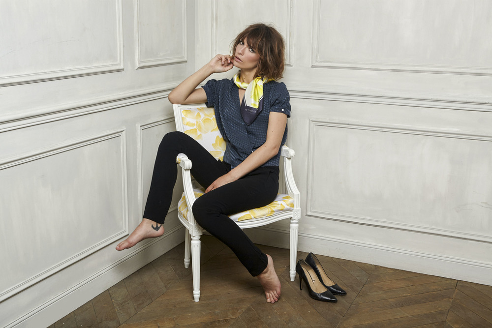 petitjean paris silk carré scarf boutons de nanc collection n°1 saint-amour 2016