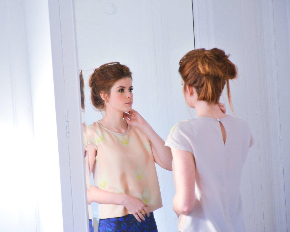 jeannette silk blouse petitjean paris flower print