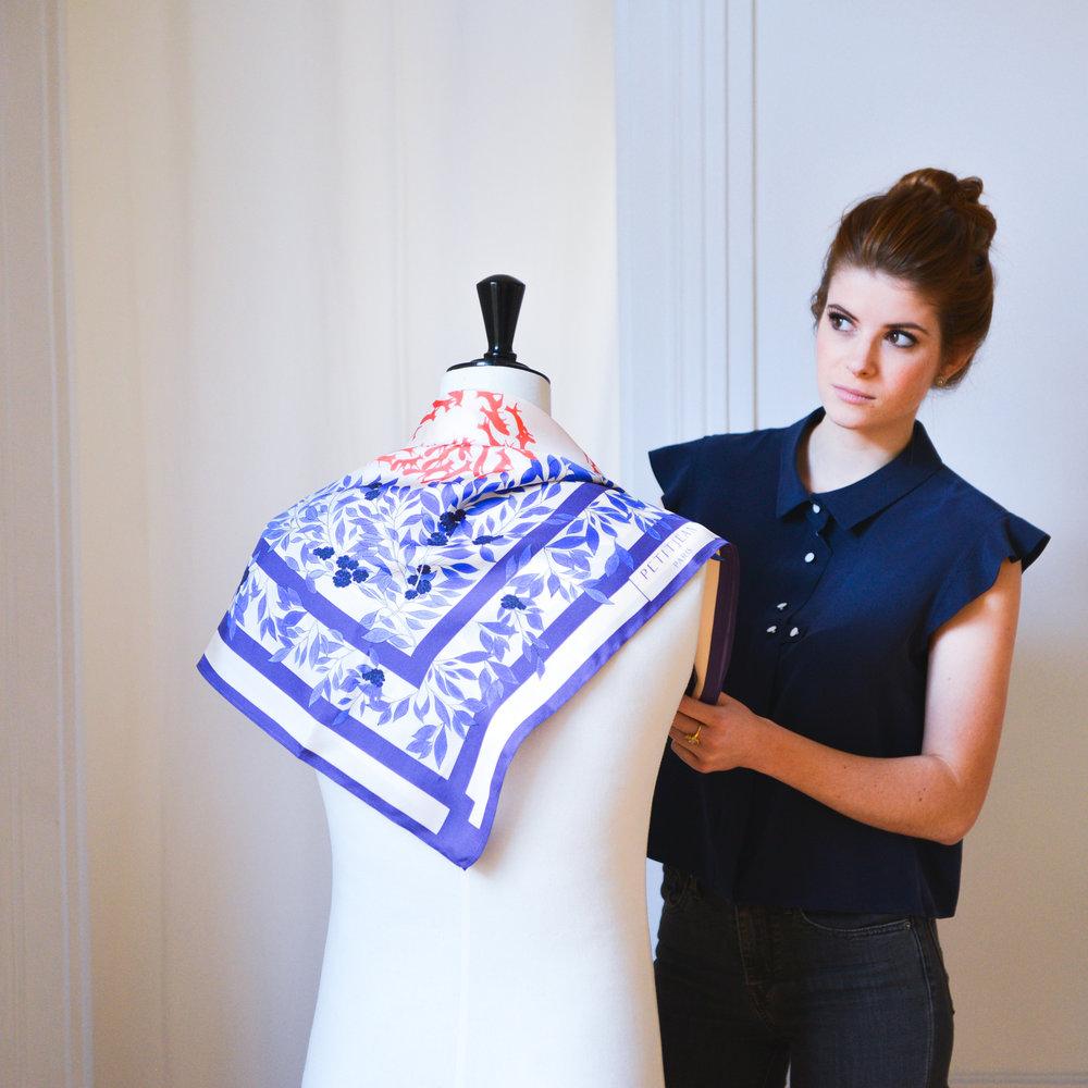 petitjean paris maison de soie chemisiers et carrés en soie paris jurassiennes lookbook