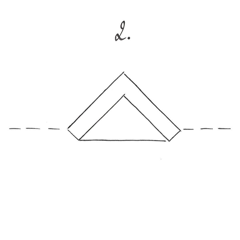 Replier un pan dans la diagonale sans superposer complètement.