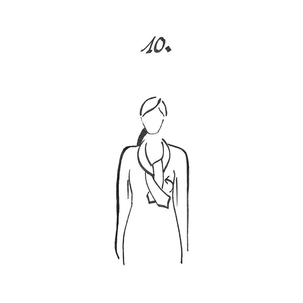 Faire un second noeud simple en dessous.