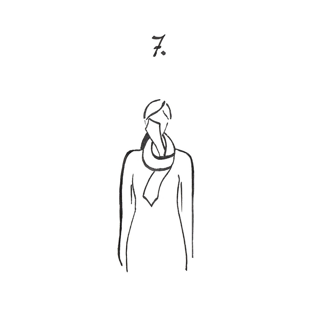 Make a basic knot.