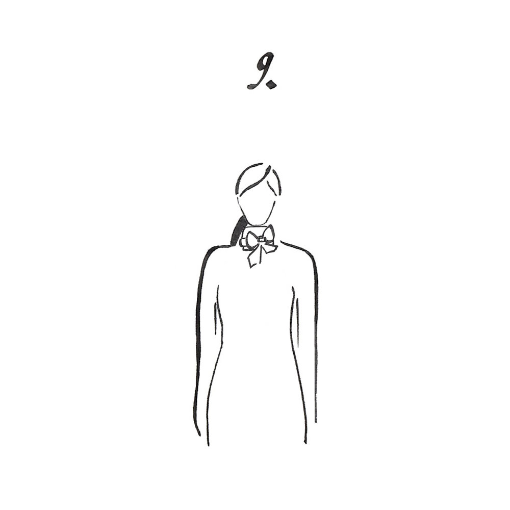 Finish with a bow tie.
