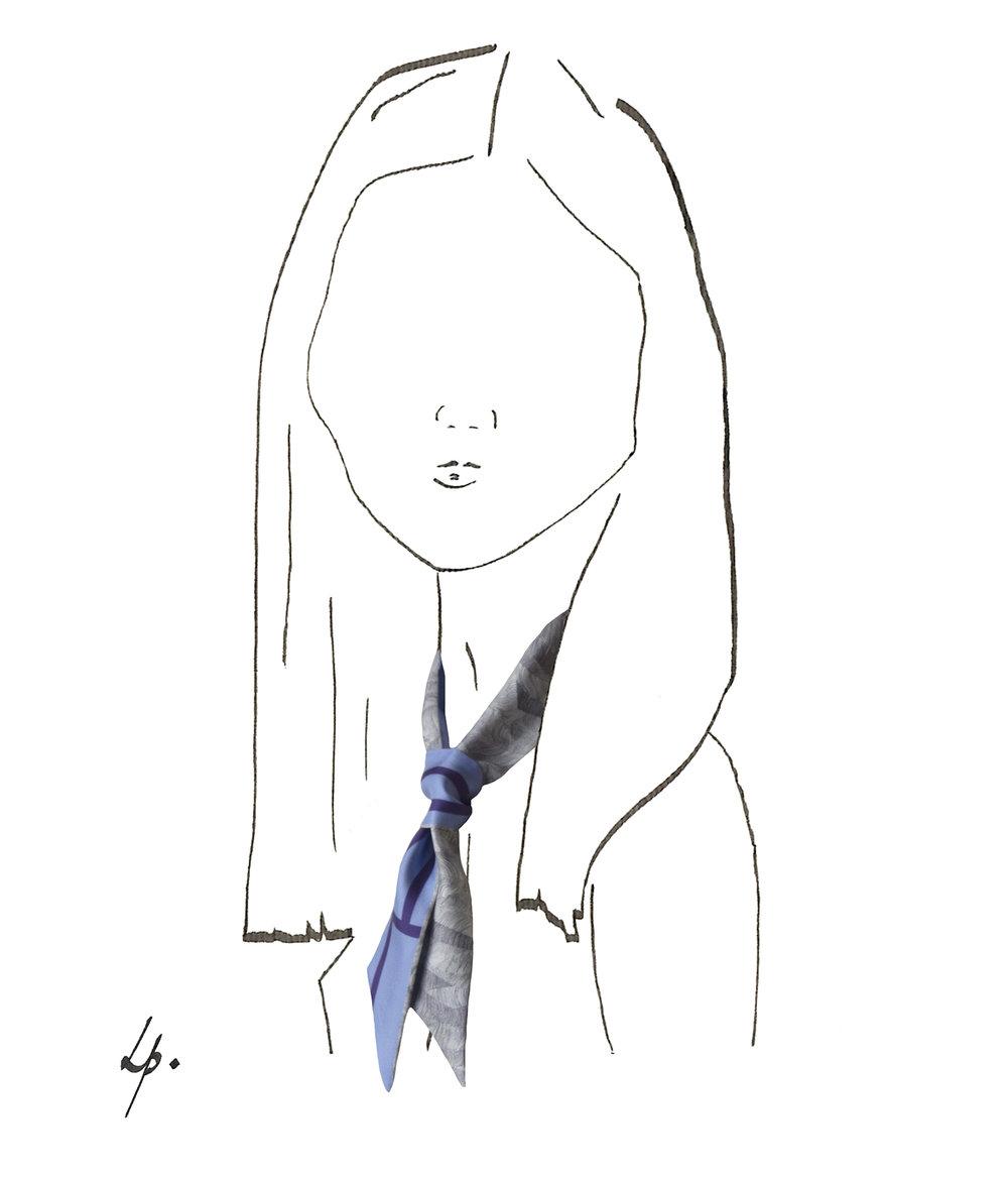 petitjean paris accessoires soie noeud flore