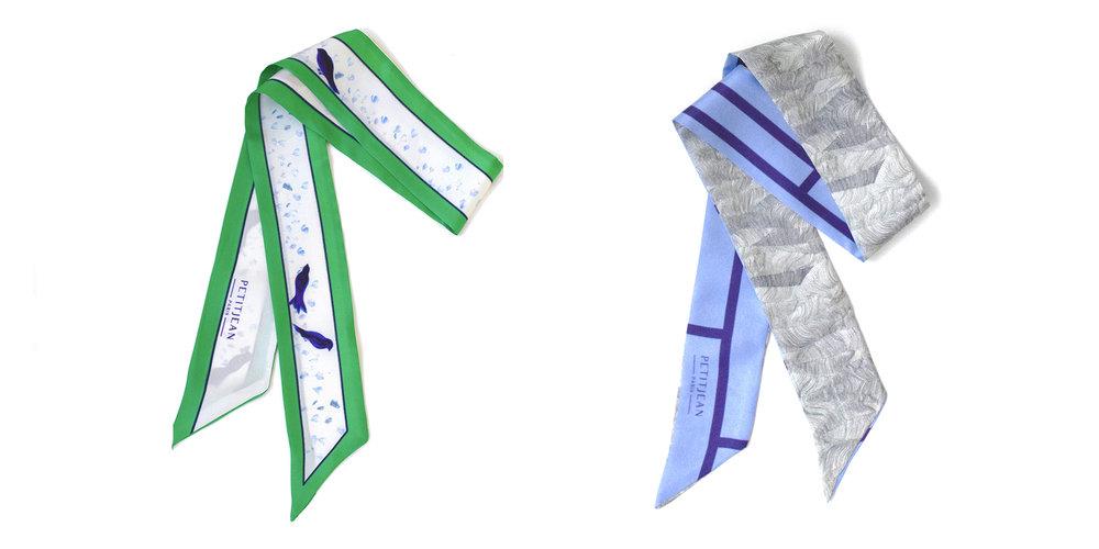 Lavalline scarf Mésanges- Lavalline scarf Vues du Ciel