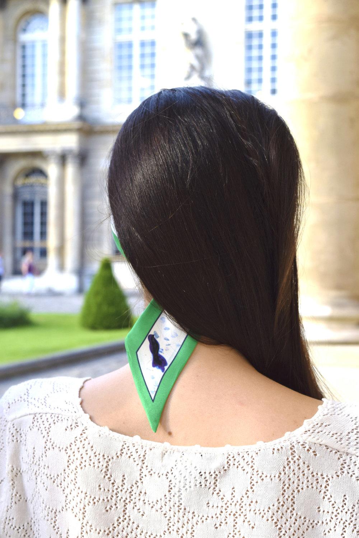 petitjean paris portraits de parisiennes accessoires soie lavallines carrés foulards charlotte