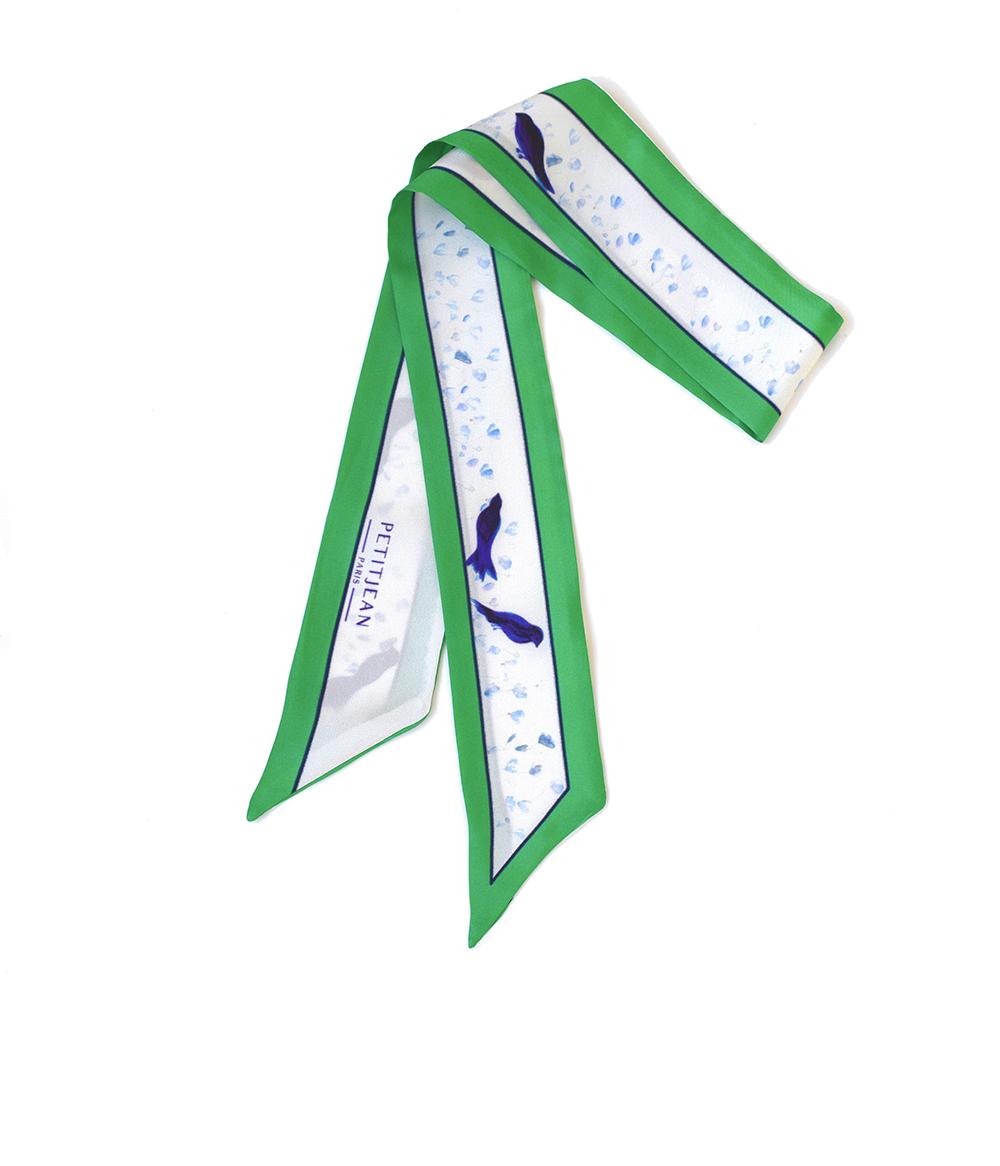Lavalline scarf Mésanges - 100% silk -75€