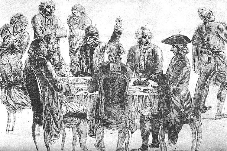 Voltaire and Diderot at Le Café Procope
