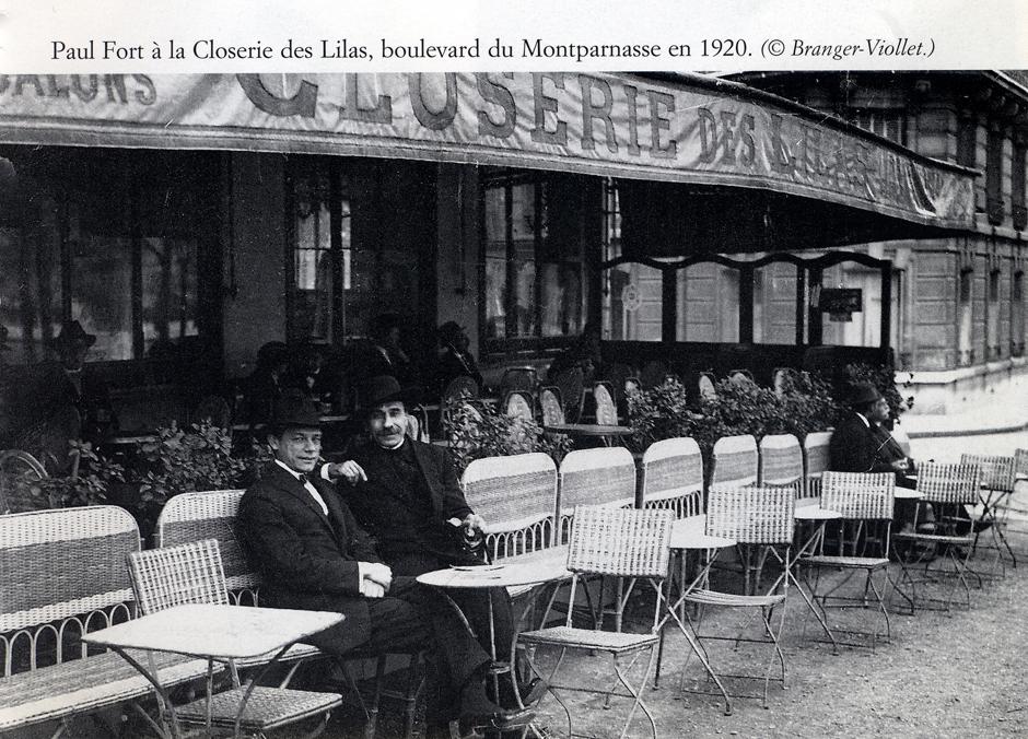 Paul Fort at La Closerie des Lilas