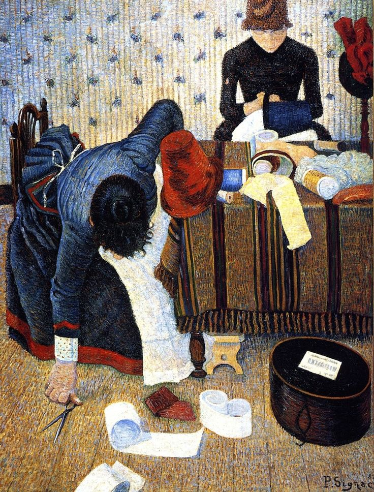 Paul Signac - Deux Stylistes, rue du Caire - Huile sur toile,1886, Fondation EG Buhrle, Zurich